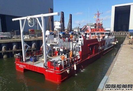 达门修船厂完成辉固双体勘测船维修工作