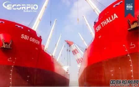Scorpio Bulkers为12艘新船融资