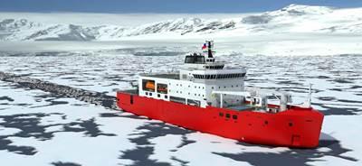 达门船舶设备公司为智利南极研究船提供配套
