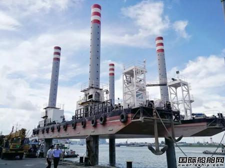 江南造船厂交付自升式海上稳桩平台