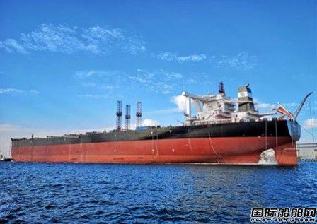 北船重工40万吨矿砂船6号船试航凯旋