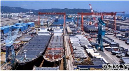 韩国造船业接单量连续4月位居全球第一