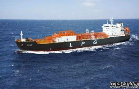 """江南造船""""PONY 13P""""系列LPG船首制船下水"""
