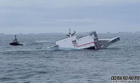 现代重工发生事故在建VLCC模块运输途中落水