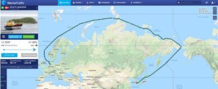 """马士基""""Venta Maersk""""号完成北极首航"""