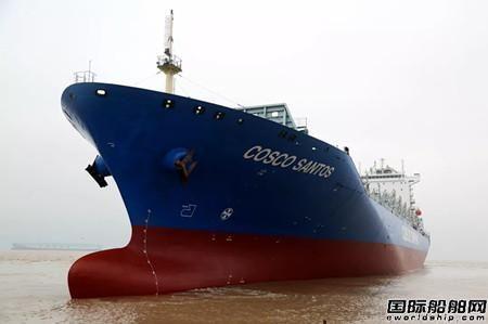 舟山中远海运重工完成中远海运集运4250TEU系列集装箱船球鼻艏改装工程