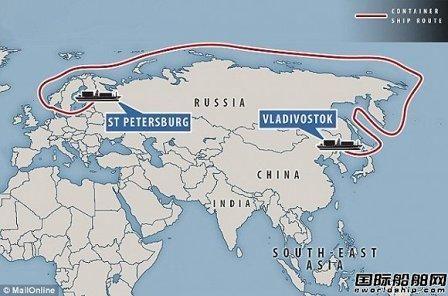 历史性航行!首艘集装箱完成北极航道试航