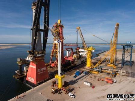 Heerema公司DP3船安装海上风力发电机