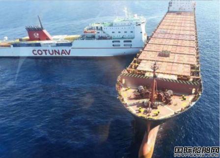地中海两船相撞造成严重的溢油事故