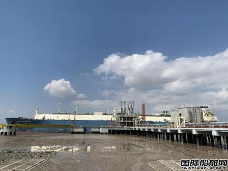 """""""德尔菲""""LNG船顺利抵达浙江LNG接收站码头"""