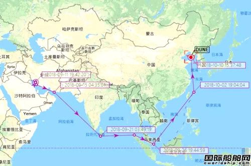 美国制裁将生效,伊朗油轮加速驶向中国