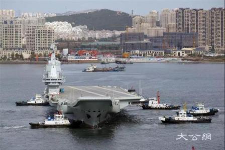 国产航母第三次海试