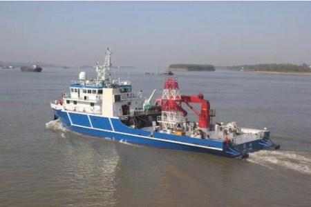 """同方江新""""清研海试1""""海洋工程试验母船离厂海试"""