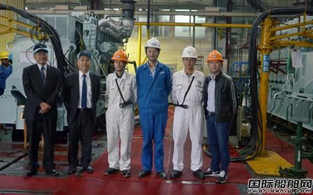安柴为中谷海运配套DE-23柴油发电机组顺利交验