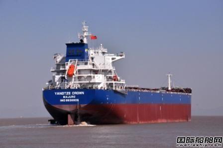 长宏国际一艘续建82000吨散货船交付