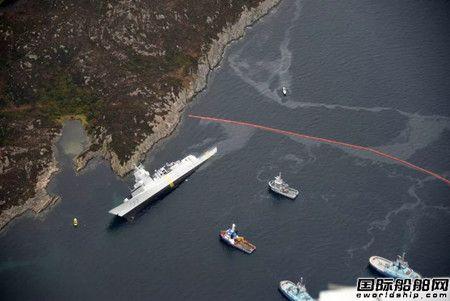 挪威军舰与希腊油轮相撞搁浅致8人受伤