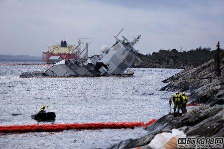 挪威军舰与油轮相撞最新进展:军舰基本沉没