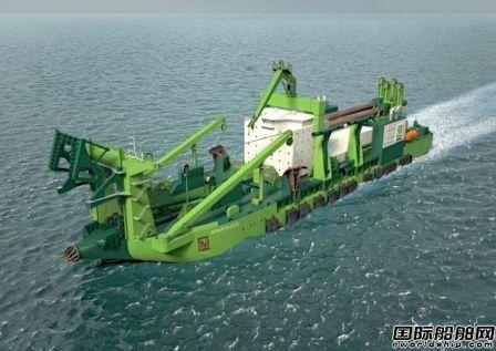 IHC建造全球首艘LNG动力绞吸挖泥船下水