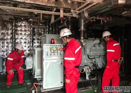 外高桥造船H1448船应急发电机实现船坞内动车