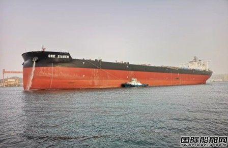 北船重工一船试航凯旋一船顺利出坞