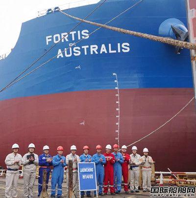 外高桥造船四艘船同一天实现生产节点