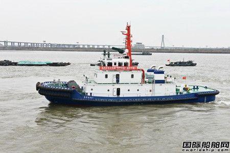 镇江船厂2艘全回转拖船顺利出厂