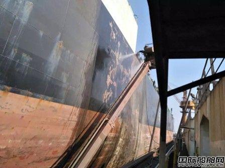 广东中远海运重工新工艺实现船壳外板100%除锈作业