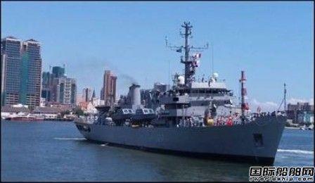 印度海军测量船在毛里求斯开展水道测量