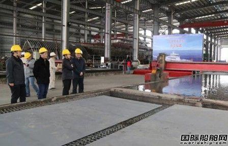 江龙船艇一艘30米级巡逻船开工