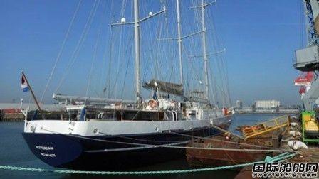达门修船厂完成荷兰最大风帆训练船维护