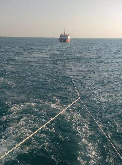 """渔民东海""""捡""""到无人游轮系外籍船只遇故障漂失"""