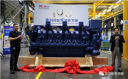 玉柴安特优动力第100台S4000发动机下线