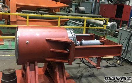 武汉船机1200吨风电安装平台升降系统完成1000次插销可靠性试验