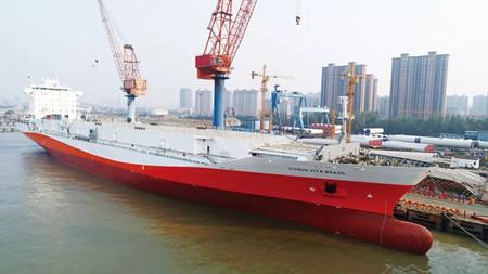 中船澄西亚洲最大橙汁运输船改装侧记