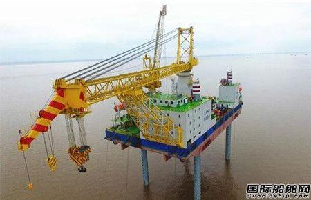 """润邦海洋""""华电稳强""""号平台完成海上站桩试验"""