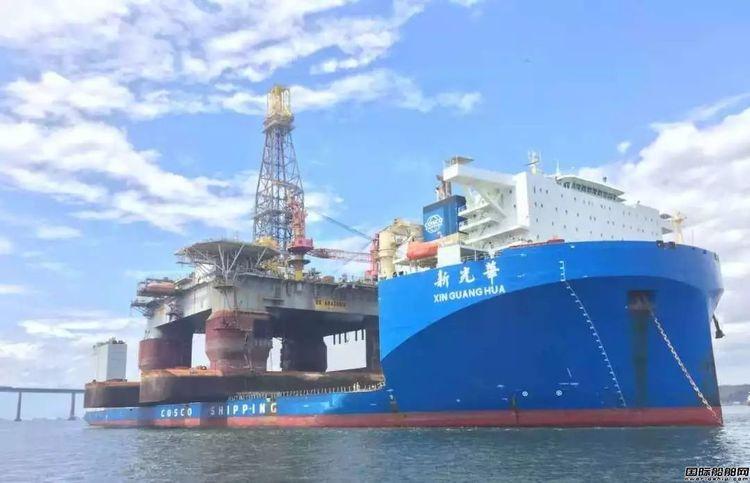 王牌对王牌!新光华轮成功卸载AMAZONIA钻井平台