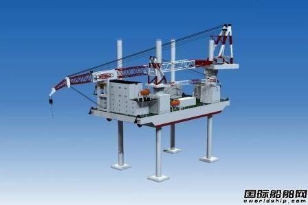 振华重工举行1200吨风电安装船龙骨安装见证仪式