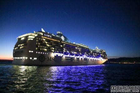 地中海邮轮开始首次全球航行