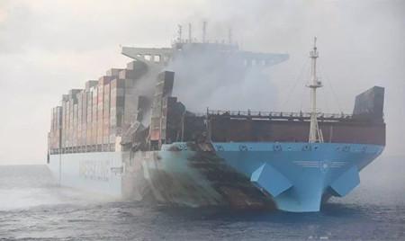 """遭遇大火的""""Maersk Honam""""轮将在现代重工重建"""