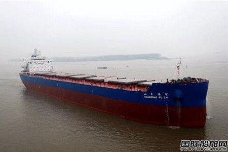 金陵船厂交付新诚航运第八艘82000吨散货船
