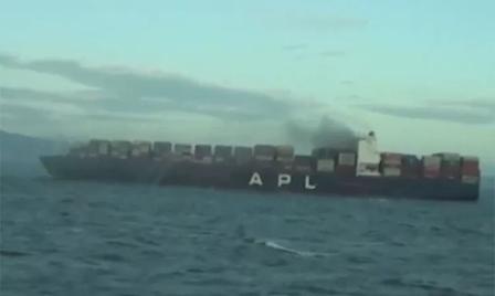 APL旗下一艘集装箱船发生大火