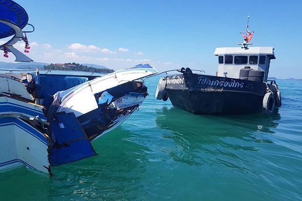 泰国普吉岛两船相撞5名中国游客受伤