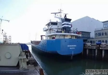 达门Harlingen修船厂完成Nordborg号货船检修