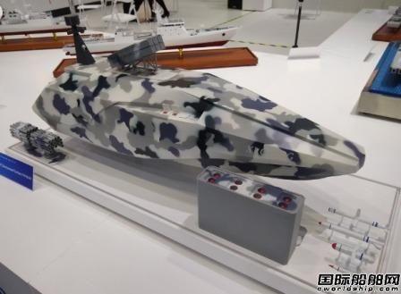 阿布扎比防务展中国展出隐形无人船