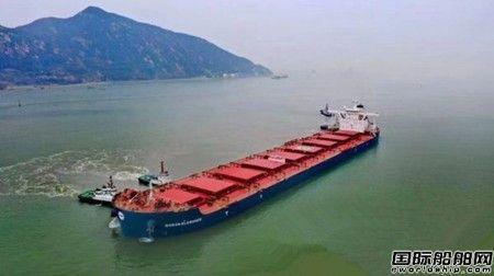 连云港港靠泊首艘最大铝矾土船