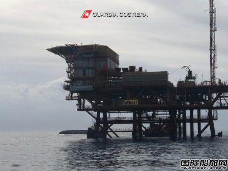ENI一座海上平台起重机倒塌1人失踪2人受伤