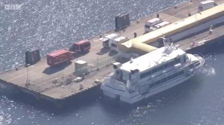 日本一高速渡轮疑与海洋生物相撞80多人受伤