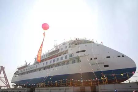 中国首艘!国产极地探险邮轮下水