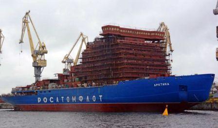 """俄罗斯最强核动力破冰船""""北极""""号今年交付"""