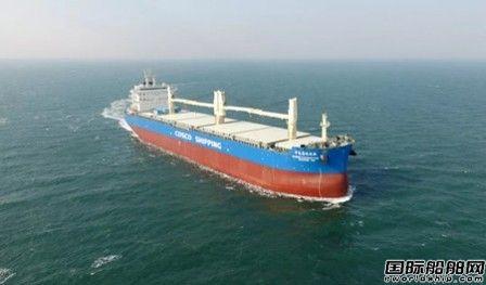 大连中远海运重工2号6.2万吨多用途纸浆船提前完成试航